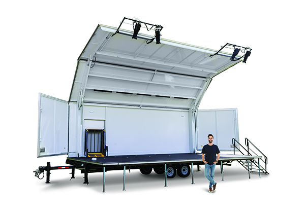Showmobile Mobile Stage and Canopy