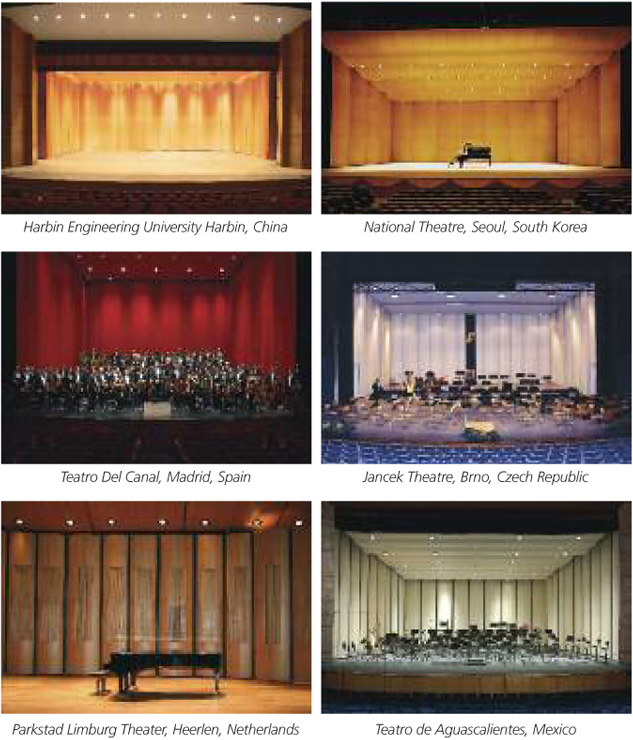 Diva<sup>&reg;</sup> Full-Stage Acoustical installations around the world