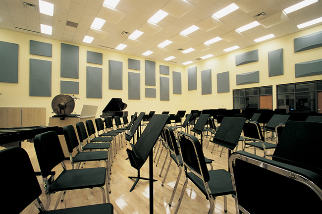 Classroom Design Colors ~ Rehearsal room acoustical treatments wenger corporation