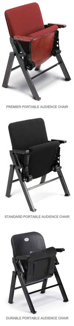 Portable Audience Chairs .