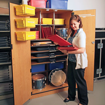 Organized, attractive and secure storage for instruments, robes/garments, supplies and more. Many cabinet sizes and configurations available.