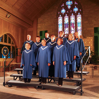 Choral risers allow a choir to stand up and be heard. Wenger choral risers are the most used in the world – and for good reason – they're sturdy, versatile and fold and transport where you need them.