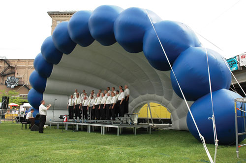 Inflatable Acoustical Shell