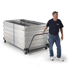 StageTek Staging Horizontal Storage Cart