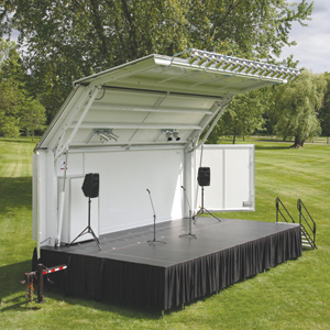 Showmobile Mobile Stage and Canopy & Risers Platforms and Stages - Wenger Corporation