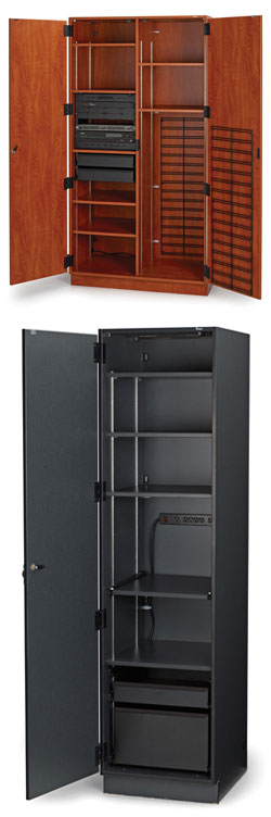 Amazing Fixed Media Storage Cabinets