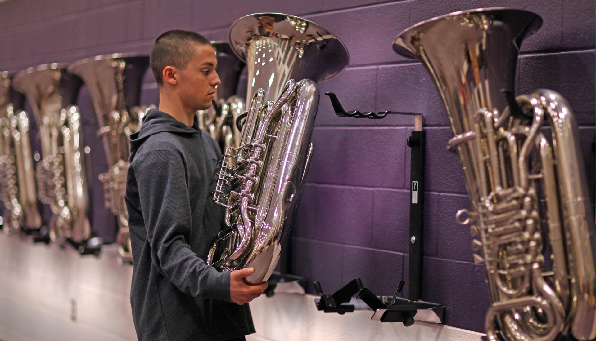 Tuba And Sousaphone Wall Bracket Wenger Corporation