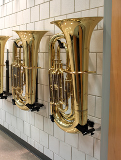 Tuba and Sousaphone Wall Bracket