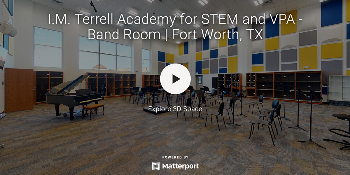 I.M Terrell Academy for STEM and VPA – Band Room
